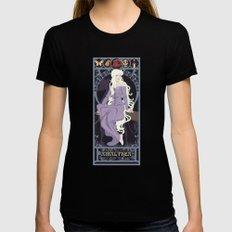Amalthea Nouveau - The Last Unicorn Womens Fitted Tee MEDIUM Black