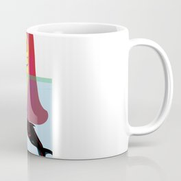 """Redhead Worry"" Paulette Lust's Original, Contemporary, Whimsical, Colorful Art Coffee Mug"