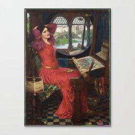 I am Half-Sick of Shadows, said the Lady of Shalott, by John William Waterhouse Canvas Print