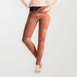 South West Anatolia  Antique Turkish Niche Kilim Print Leggings