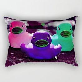 Squeaky duck Rectangular Pillow