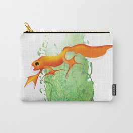 Orange Newt Carry-All Pouch