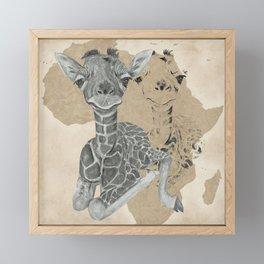 Baby Giraffe II Framed Mini Art Print
