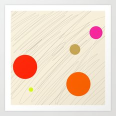 Circles orange Art Print