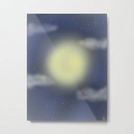 Moonlit on A Starry Night  Metal Print