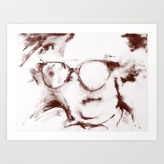 The Visionary Sepia Art Print
