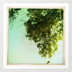 tree and sky Art Print