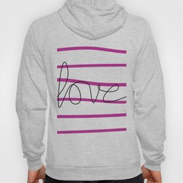 Pink Stripes Love Hoody