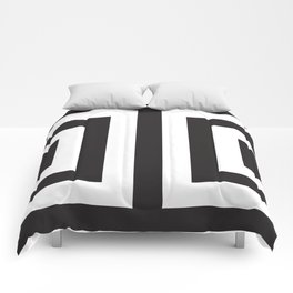 Black Greek Stripes Comforters