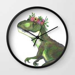 Pretty T-Rex Wall Clock