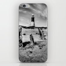 Spurn Point Lighthouse and Groynes iPhone & iPod Skin
