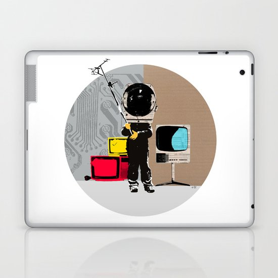 Check your head out - Collage Laptop & iPad Skin