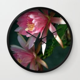 Giant Empress Blooms at Dawn Wall Clock