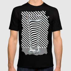 Striped Water Black MEDIUM Mens Fitted Tee