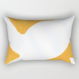 The Crown of Basquiat, Abstract, Selective Yellow Rectangular Pillow