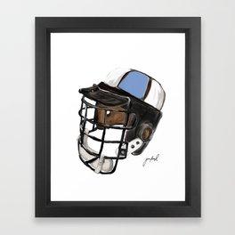 Homewood Helmet Framed Art Print