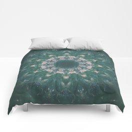Amazon Emerald Gemstone Mandala No. 39 Comforters