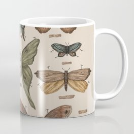 Butterflies and Moth Specimens Coffee Mug