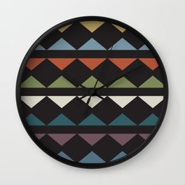 African triangles Wall Clock