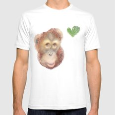 Monkey White MEDIUM Mens Fitted Tee