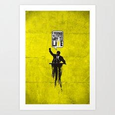 Political speech! Art Print