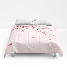 Oriental cherry blossom in spring 002 Comforters