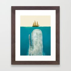 The Whale - colour option Framed Art Print