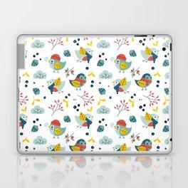 winter birds pattern Laptop & iPad Skin