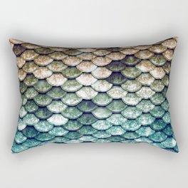 Mermaid Tail Teal Ocean Rectangular Pillow