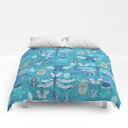 blue bugs Comforters