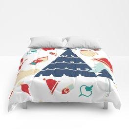 Christmas tree blue Comforters
