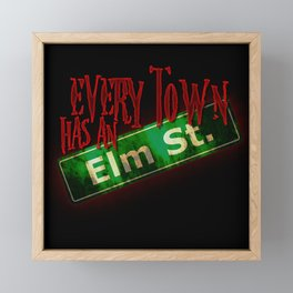 Every Town Elm Street Framed Mini Art Print