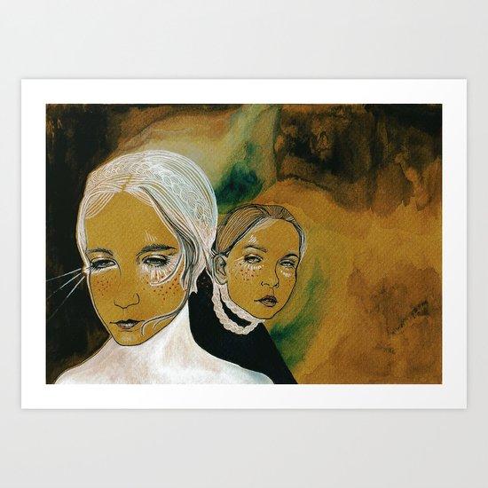 you and i and us (sen, ben, ve biz) Art Print