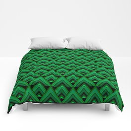 Green Leaves Triangle Comforters