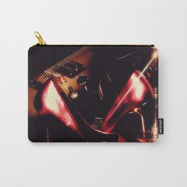 After the Set red high heels wine and music Carry-All Pouch