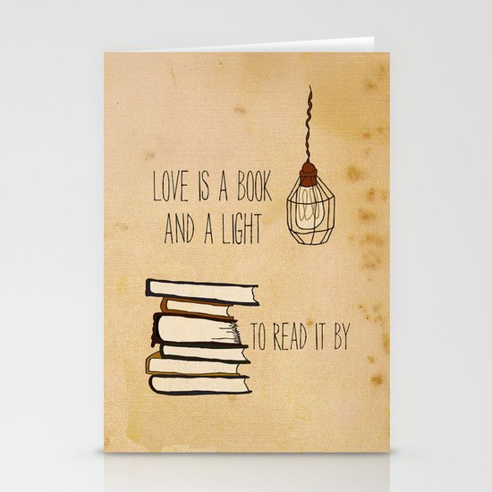 Love Is A Book Stationery Cards