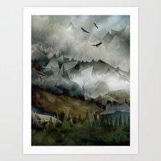 Eagle Mountains Art Print