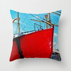 The Red Bow Throw Pillow