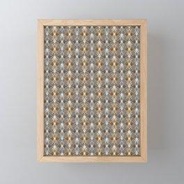 Gray beige geometry. Framed Mini Art Print