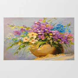 A bouquet of meadow flowers Rug