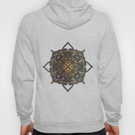 Gold and Navy Damask Hoody