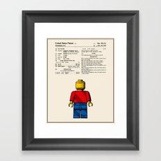 Lego Man Patent - Colour (v1) Framed Art Print