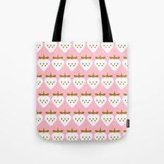 Pink pattern strawberry Tote Bag