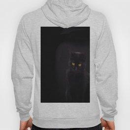 Black Cat On A Black Background #decor #buyart #society6 Hoody