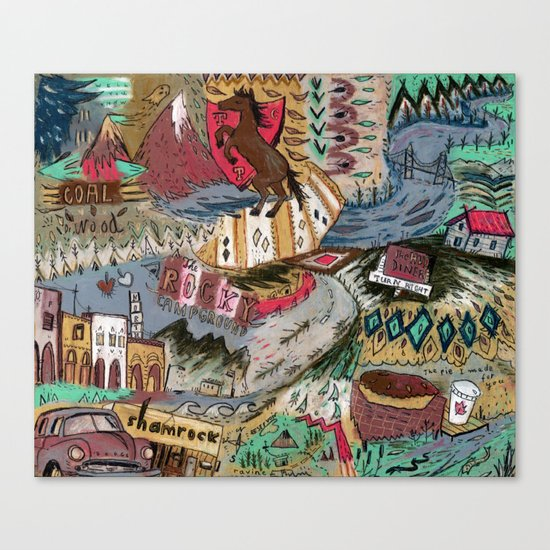 Rocky Campground Canvas Print