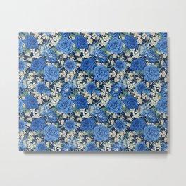 British chintz floral pattern Metal Print