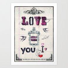Love = You and I Art Print
