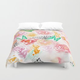 Abstract Watercolor III Duvet Cover