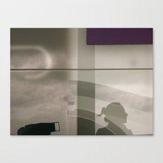 Self portait and purple  Canvas Print