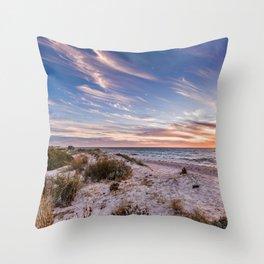Semaphore Beach Sunset Throw Pillow